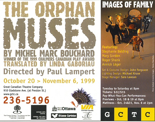 THE ORPHAN MUSES, m.e.s. de Paul Lambert, Great Canadian ...